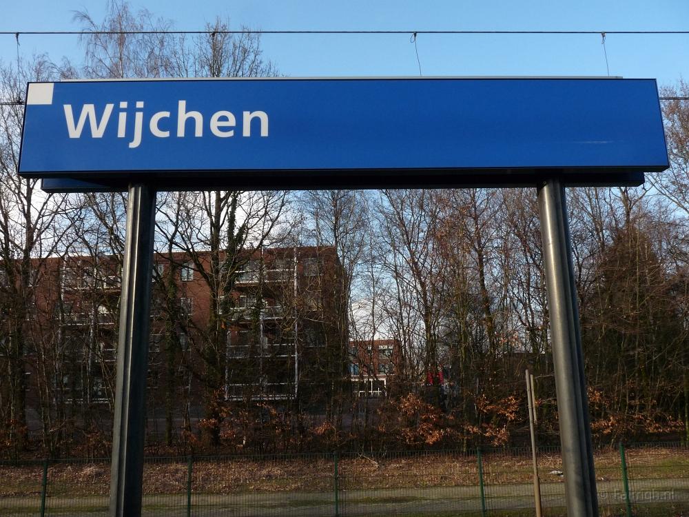 Treinstations Gelderland/Station Wijchen - Foto Stationsbord