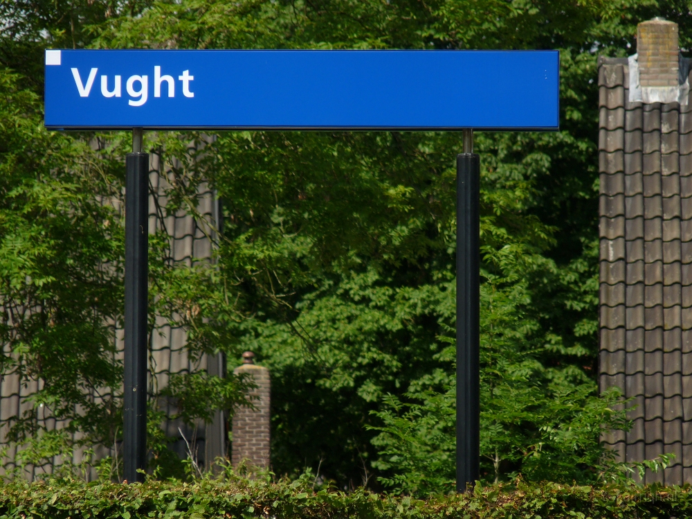 Treinstations Noord-Brabant/Station Vught - Foto Stationsbord