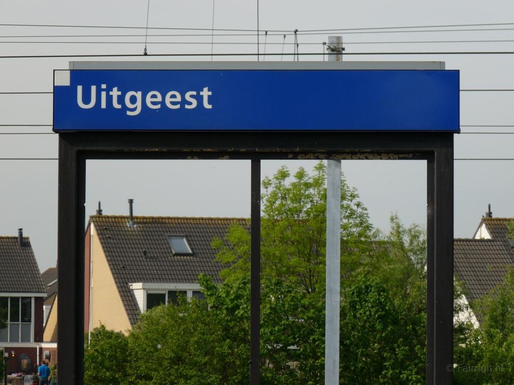 Treinstations Noord-Holland/Station Uitgeest - Foto Stationsbord